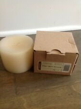 Longaberger Unburned Pint Size Pillar Candle in Vanilla - Nib
