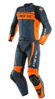 Dainese Motorrad Lederkombi Mistel 2PCS in schwarz/blau/orange Größe 54