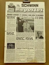 Vintage Schwinn Reporter Dealer Newsletter Newspaper March 1967 New Trademark