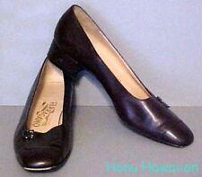 Vintage 1980's Salvatore Ferragamo Brown Leather Pumps Heels size 7Aa