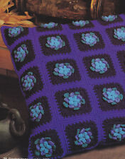 Crochet Pattern ~ POPCORN FLOWERS FLOOR PILLOW ~ Instructions
