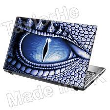 """Ordinateur portable 15,6 pouces Peau Couverture Autocollant Decal """"dragon eye"""" bleu"""