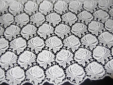 GUIPURE LACE FABRIC, WHITE, INTRICATE DESIGN, BRAND NEW, BRIDAL QUALITY, COTTON