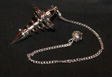 Pendulum Chrome pendant Spiral silver with chain Fortune teller Oracle Esoteric