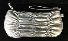 Silver vinyl clutch evening bag wristlet handbag Cookie Lee NWOT