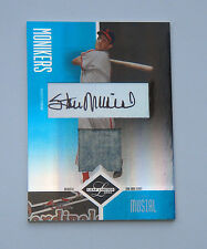 HOF Stan Musial 2004 Leaf Limited MONIKER Card AUTO & Game Used Jersey 14/25