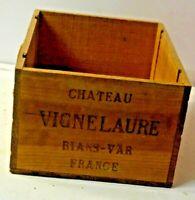 ANCIENNE CAISSE A BOUTEILLE DE VIN VIGNELAURE PAS MARGAUX