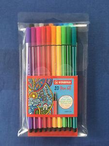 Stabilo 20 Pen 68 - Premium-Filzstifte Set 20 Stück verschiedene Farben