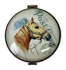 Horse Ceramic Jewelry Trinket Box - Gift Boxed - Keepsake