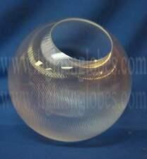 "12"" Clear Acrylic Prismatic Plastic Sphere Round Globe 5.25"" Post Light Fixture"