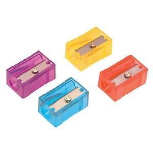 Pencil Sharpener Plastic Anti-tamper Screw 1-Hole Assorted ( 4 x 10 Sharpeners)