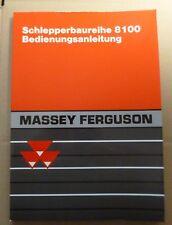 Massey Ferguson Schlepper 8110 + 8120 + 8130 + 8140 + 8150 + 8160 Anleitung