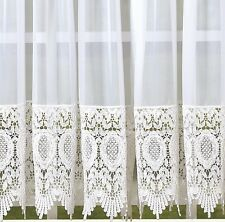 "Diana Lace Curtain Panel 60"" x 63"" Long - HC Int - Today's Curtain - White"