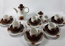 Mitterteich Kaffeegeschirr Kaffeeservice Tee Service 70er Vintage, braun R1