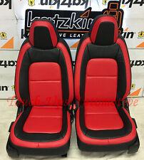 2015-2020 Chevrolet Colorado Crew Cab WT KATZKIN Leather Seat Covers Salsa Red