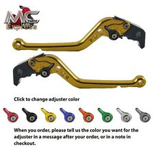 Suzuki GSX-R600 2006-2010 Largo Ajustable Moto Palanca de Freno y Embrague Oro