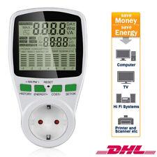 Energiekostenmessgerät Stromverbrauchszähler Kinderschutzsicherung PowerMeter