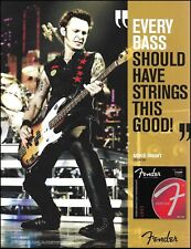 Green Day Mike Dirnt 2011 Fender Precision Bass guitar strings 8 x 11 ad print