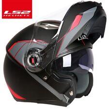 LS2 Helmets Strobe Solid Modular Motorcycle Helmet Gloss Black 3XL XXLarge Y3