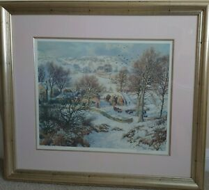 Framed Signed Print James McIntosh Patrick Winter at Lundie Farm No 681 Preowned