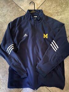 Lloyd Carr Personal Collection Michigan Adidas Fleece Jacket XL Signed LOA