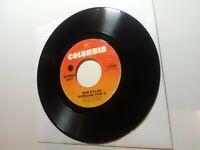 "[1975] Bob Dylan: Hurricane (Part I & II) [VG+] 45 RPM 7"" record Columbia single"