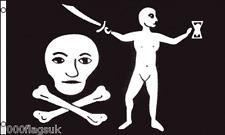 Pirate Skull and Crossbones Jean Thomas Dulaien 5'x3' Flag !
