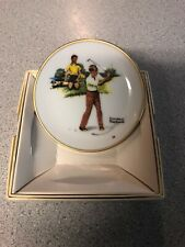 Norman Rockwell Four Seasons Mini Plate - 558, Blasting Out