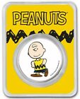 2021 1 Oz Silver CHARLIE BROWN PEANUTS® Colorized Round In Assay.