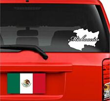 "Car Decals. Wall Decal. Laptop Decal... Mapa Michoacan, Mexico.  8"" W x 5.75"" H"