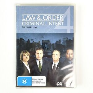 Law And Order Criminal Intent Season 4 Fourth Year 5-Disc DVD Set PAL
