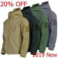 Waterproof Tactical Soft Shell Men Jacket Coat Army Windbreaker Outdoor Outwear
