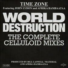 TIME ZONE ~ WORLD DESTRUCTION ~ John Lydon/Afrika Bambaataa ~ RARE WHITE VINYL