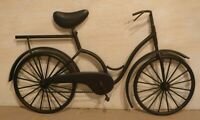 Awesome Metal Vintage Bicycle Wall Art Decor Brown Aged Patina Finish