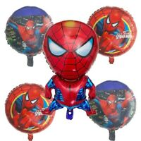 SPIDERMAN 5 x Foil Balloons Party Pack Helium quality 30'' Balloons Deflated SM1