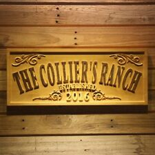 wpa0354 Name Personalized THE RANCH Farm Year Gifts Wood Engraved Wooden Sign