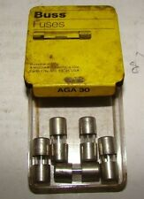 Buss AGA 30 Fuses, Pack of 5, NIB