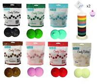Candy Buttons 2 Bags PME COLOURED Melts Cake Pops Sugarcraft Cookie Decoration