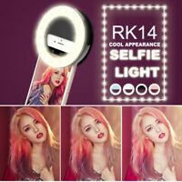 New Selfie LED Ring Flash Fill Light Clip Camera Lamp For Phone iPhone Samsung