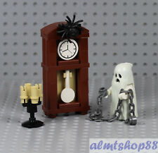 LEGO - Grandfather Clock w/ Ghost Chains Candlesticks Haunted Halloween Minifig