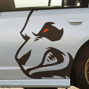 Angry Growling Panda Bear Side Vinyl Vehicle Graphic Decal Car Pickup Truck Bed