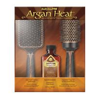 Babyliss Pro Argan Heat Paddle Brush | Large Round Brush | 100ml Argan Oil