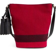 NWT 100% Authentic $750 Burberry Mini Ashby Overdyed Bucket Bag Crossbody!