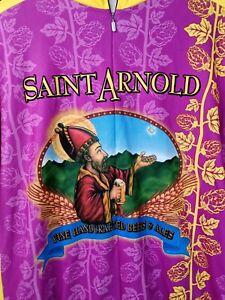 Sugoi Men's Size 2XL Saint Arnold Print Short Sleeve Pink Cycling Top 4928