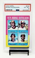 1975 Topps Rookie Outfielders HOF Red Sox JIM RICE Rookie Card PSA 6 EX-MINT