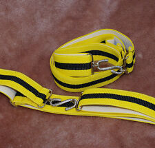 Black Yellow Adult Boys Mens Girls Elasticated 30mm Snake Belt  xl xxl Large C2