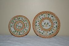 "Ceramic Trivits With Pineapples 6 3/4"" 8 1/2"" Round Set Of 2"