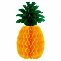 """Pineapple Honeycomb Table Centrepiece 12"""" Tropical Hawaiian Party Decoration"""