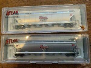 N Scale Rake of 2  Bulk Freight wagons