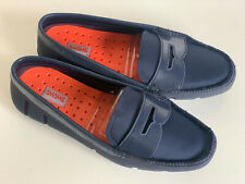 NEW! SWIMS BRAND WOMEN'S PENNY LOAFERS BOAT SHOES SANDALS US 7 EUR 37 $159 SALE